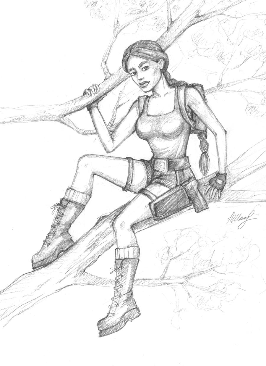 Lara in Jungle, TR 3 by alineshenon