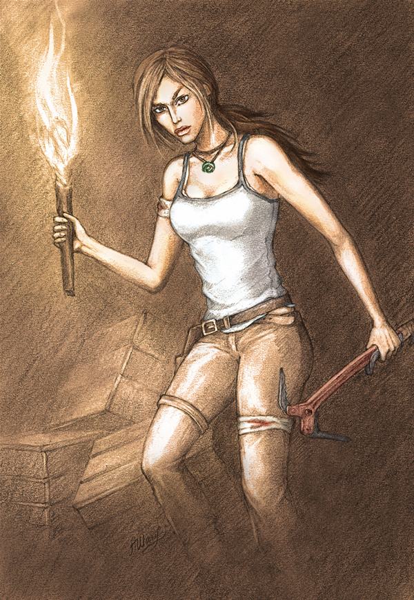 TR 9, Lara Croft Reborn in color by alineshenon