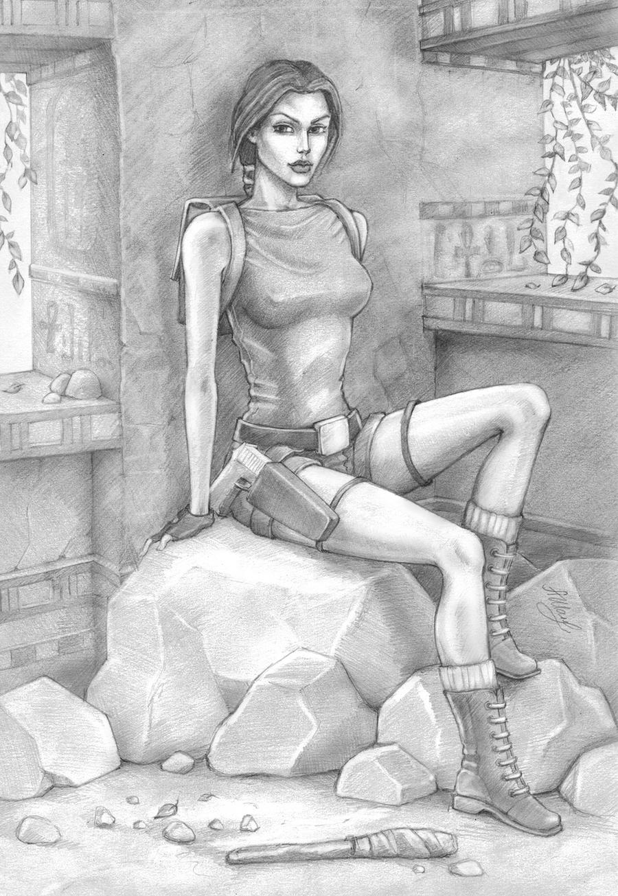 Tomb Raider 1, Egypt by alineshenon