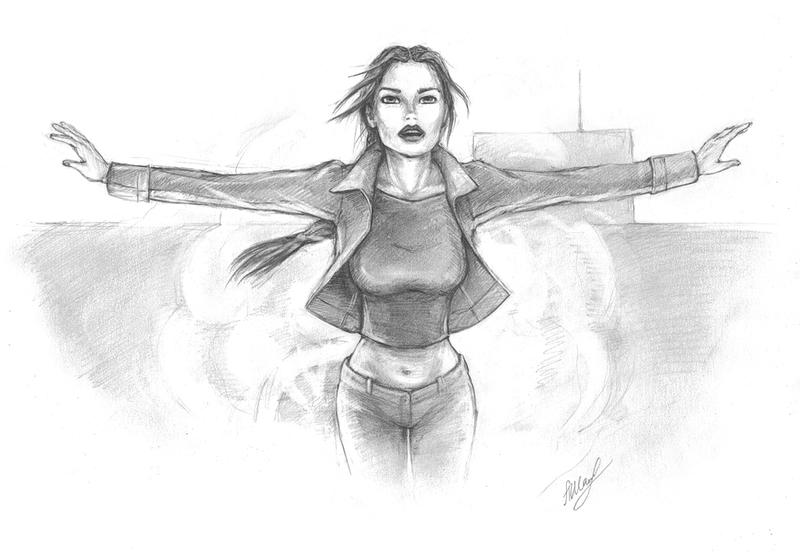 TR AOD: Lara escapes explosion. by alineshenon