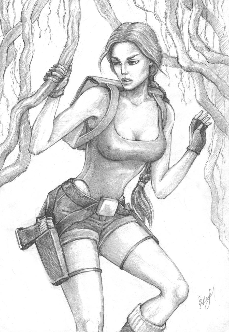 Lara Croft Classic, India: Jungle by alineshenon