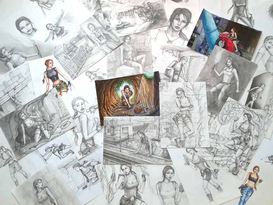 Mix of my Tomb Raider arts