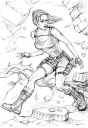 Lara runs through Jungle Temple