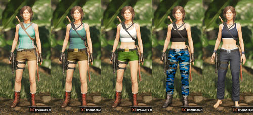 Lara's classic outfits for Shadow by alineshenon