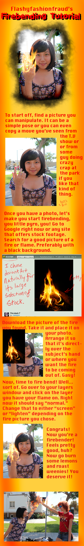 Fire Bending Tutorial by FlashyFashionFraud