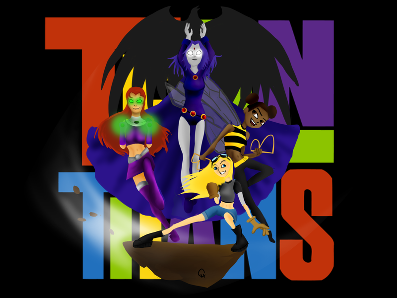 Teen Titans-Girl Power by FlashyFashionFraud