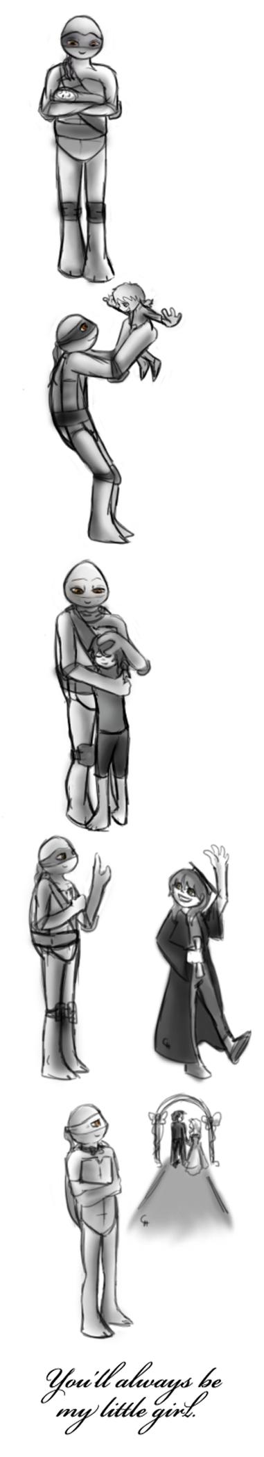 TMNT-You'll Always Be My Little Girl by FlashyFashionFraud