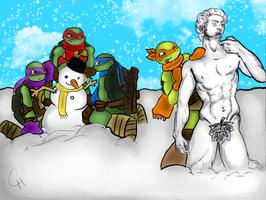 TMNT-Snow Day by FlashyFashionFraud