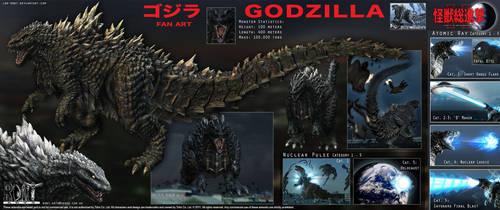 Godzilla - Gojira by LDN-RDNT
