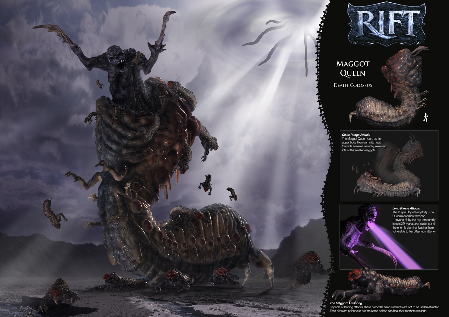 Death Colossus - Maggot Queen by LDN-RDNT