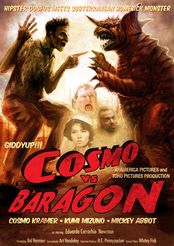 Cosmo vs Baragon by LDN-RDNT