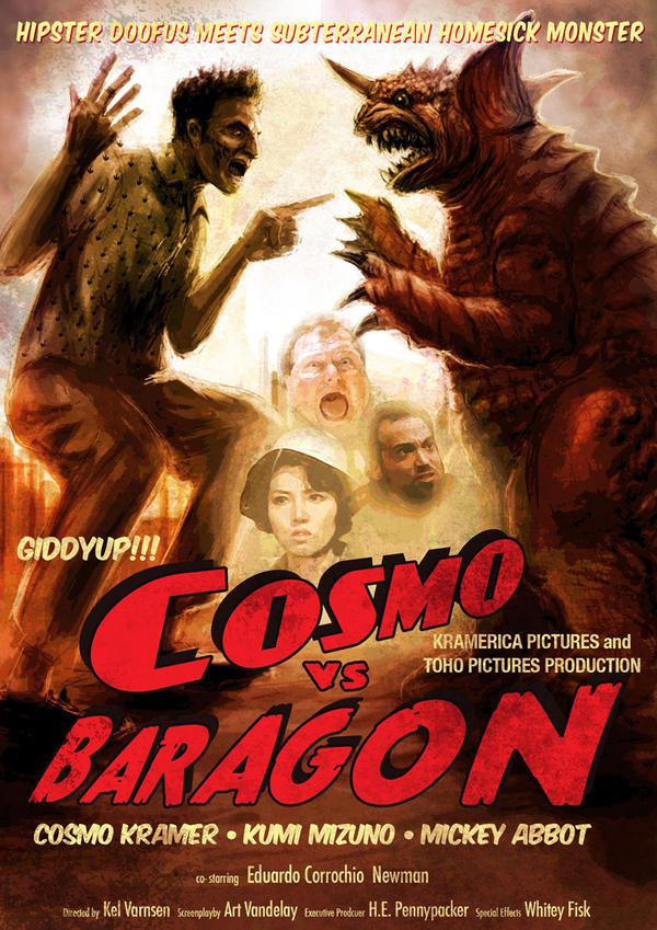 Cosmo vs Baragon by LDN-RDNT
