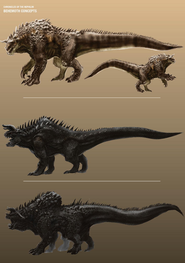 CotN: Behemoth Concept Sketches by LDN-RDNT