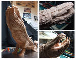Leviathan Mid Stages of Sculpture