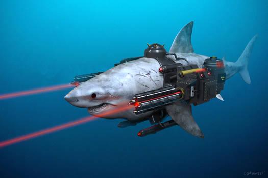 Mega Shark with Gatling Lazer (Happier Shark)