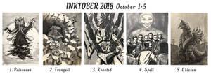 Inktober 2018 October 1-5