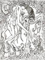 Lumbering Horror- lineart by YaginoBaka