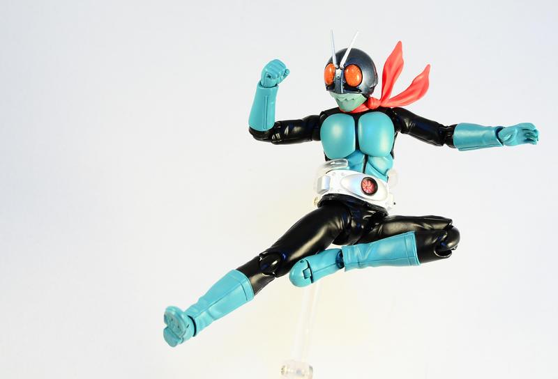 SHF - Kamen Rider 1 (Original Colours) Rider Kick by Tformer