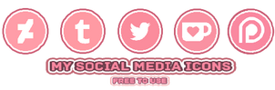 My social media icons by Ketpet94