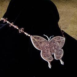 Clockwork Butterfly necklace by Oniko-art