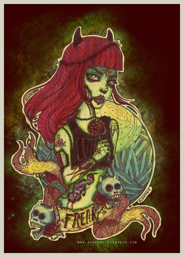 Zombie Girl by alexowo