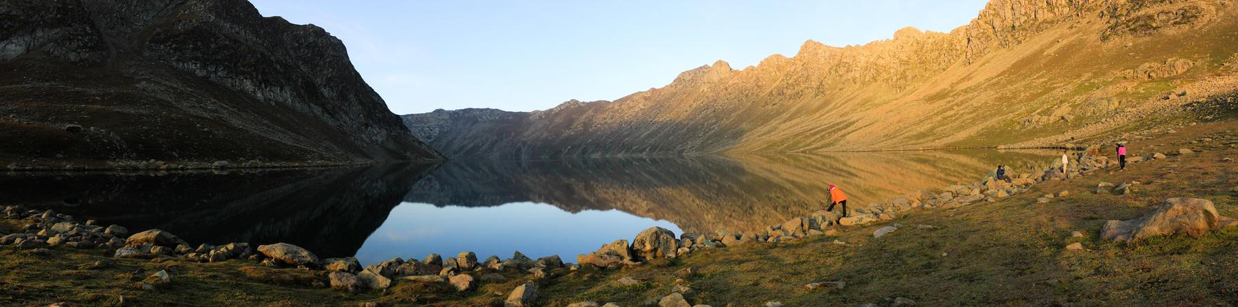 Tarsar Lake at sunrise by praphull8888