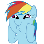 Rainbow Dash So Awesome Vector