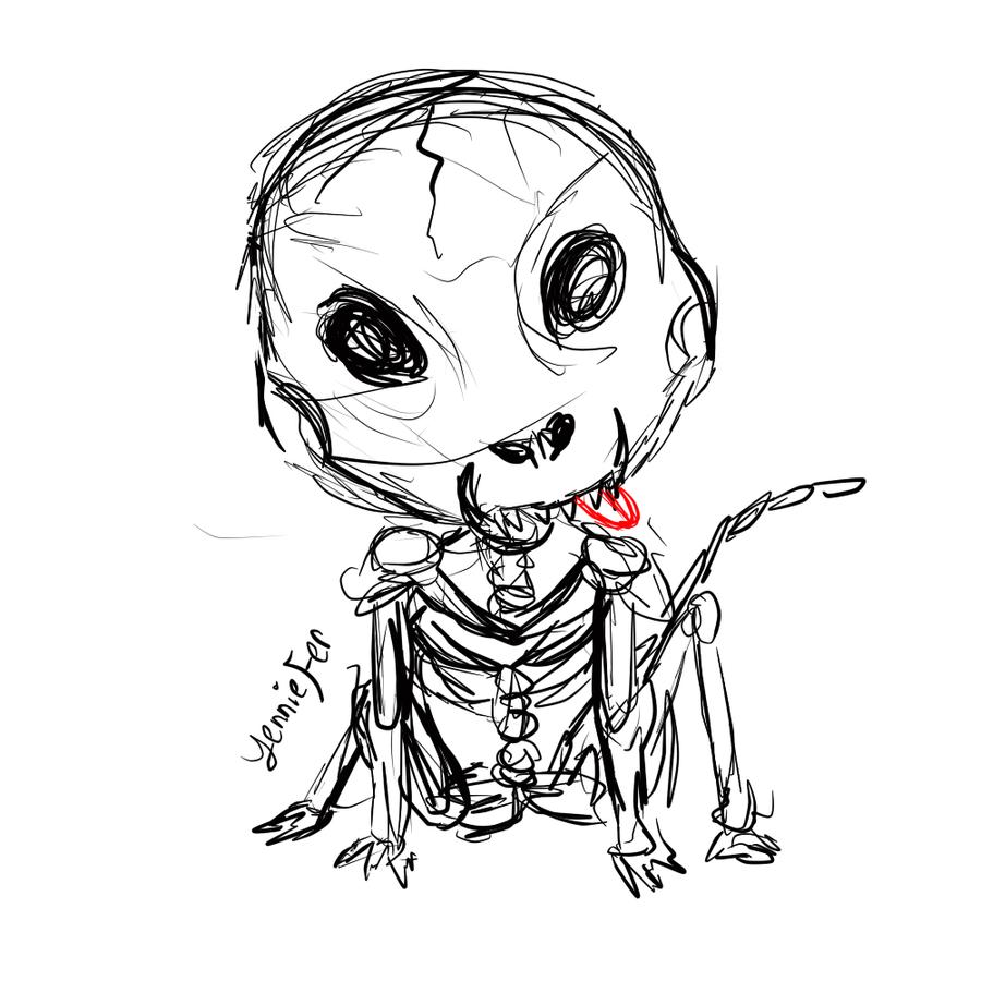 kickstarter commission chihuahua chibi skeleton by faithwalkers