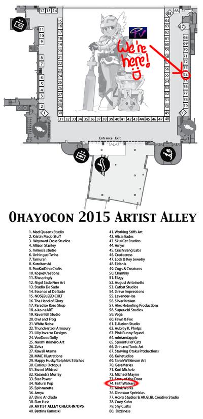 Ohayocon 2015 Table Location!!! by FaithWalkers
