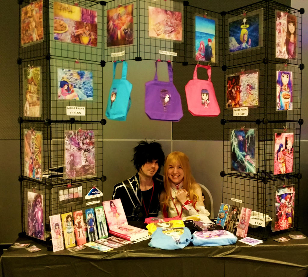 Anime Expo Stands : Ohayocon artist alley booth by faithwalkers on deviantart