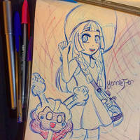 Lillie and Cosmog by FaithWalkers