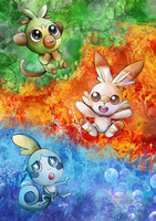 Pokemon Sword and Shield Starters by FaithWalkers