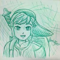 Skyward Sword Link Sketch by FaithWalkers