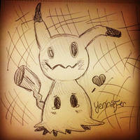 Mimikyu Sketch by FaithWalkers