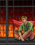 Supernatural - Lucifer in his cage by Shawdycus