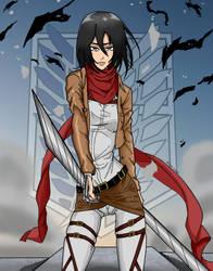 Mikasa Ackerman by Shawdycus