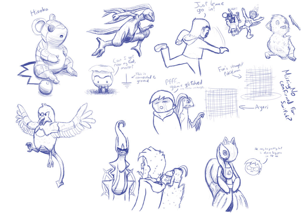Pokemon Fusion Doodles #2 by E1XBlaster