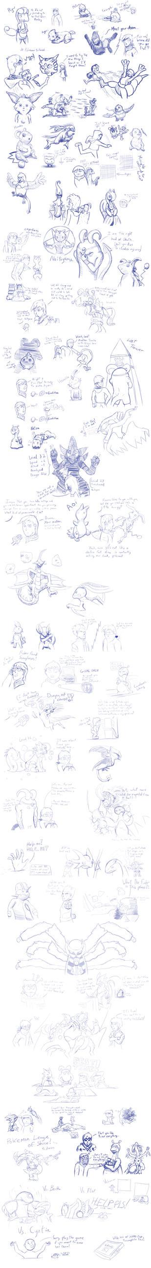 Pokemon Fusion Doodles Recopilation by E1XBlaster