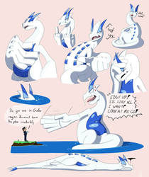 Rude lugia is very rude