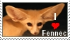 I LOVE FENNEC - stamp by woxys