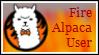 Stamp: Fire Alpaca by therachelofaspens