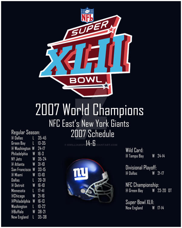 new york giants 2007 schedule results search
