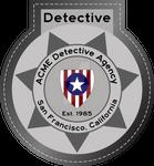ACME Detective Agency Badge 1