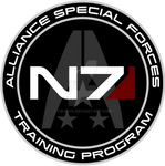 Mass Effect N7 Training Program Custom Logo