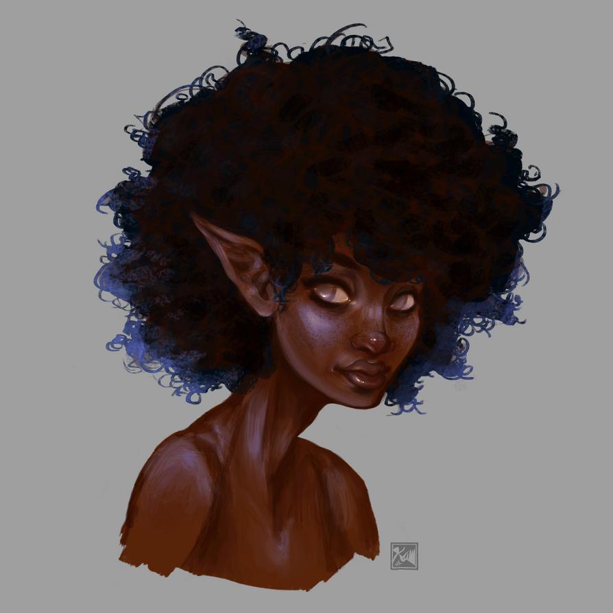 elf girl by chromageist