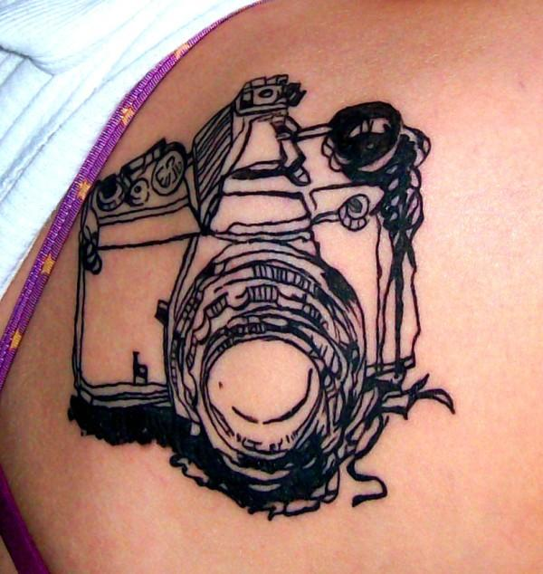 camera tattoo by dearestambellina on deviantart. Black Bedroom Furniture Sets. Home Design Ideas
