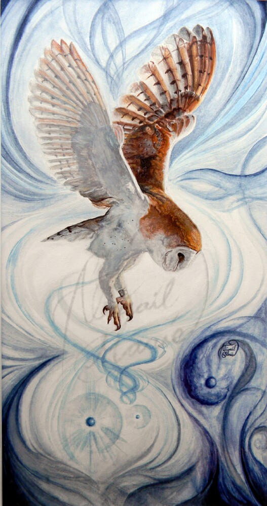 The-Wind-Calls-watercolor-owl-painting