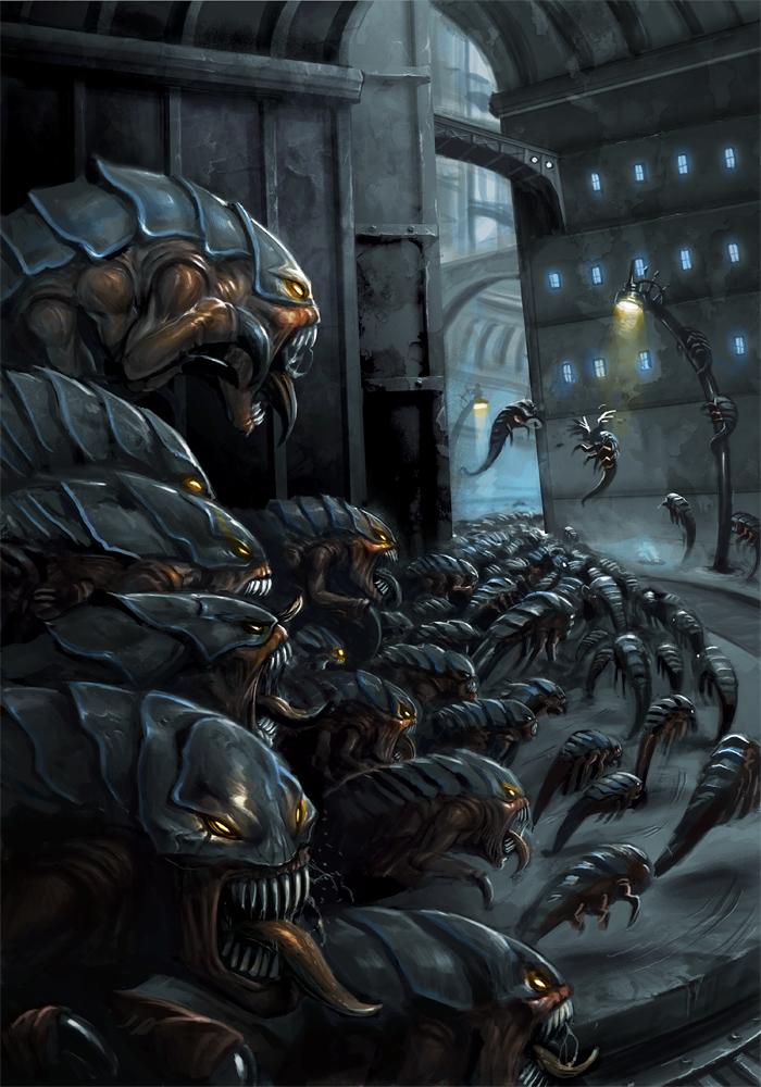 Warhammer 40k - Ripper Swarm by damie-m