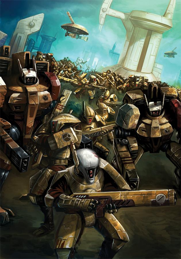 Warhammer 40k - Tau by damie-m