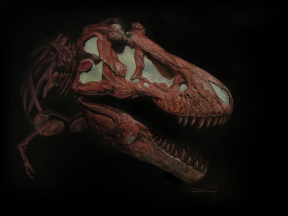 Tyrannosaurus Rex Oil Study by damie-m